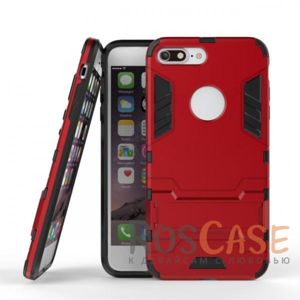 Ударопрочный чехол-подставка Transformer для Apple iPhone 7 plus (5.5) с мощной защитой корпуса (Красный / Dante Red)Описание:подходит для Apple iPhone 7 plus (5.5);материалы: термополиуретан, поликарбонат;формат: накладка.&amp;nbsp;Особенности:функциональные вырезы;функция подставки;двойная степень защиты;защита от механических повреждений;не скользит в руках.<br><br>Тип: Чехол<br>Бренд: Epik<br>Материал: TPU