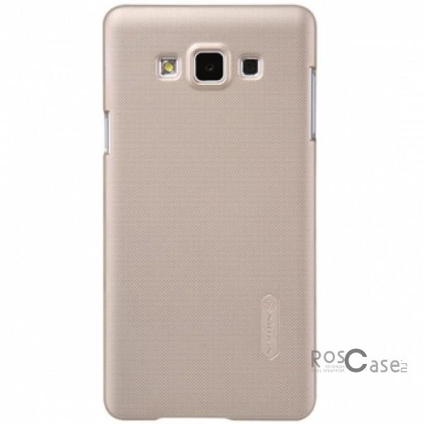 Чехол Nillkin Matte для Samsung A700H / A700F Galaxy A7 (+ пленка)  (Золотой)Описание:Чехол изготовлен компанией&amp;nbsp;Nillkin;Спроектирован для Samsung A700H / A700F Galaxy A7;Материал  -  пластик;Форма  -  накладка.Особенности:Полностью защищен от появления потертостей;В комплект входит глянцевая пленка;Имеет ребристое матовое покрытие и антикислотное напыление;Тонкий дизайн.<br><br>Тип: Чехол<br>Бренд: Nillkin<br>Материал: Поликарбонат