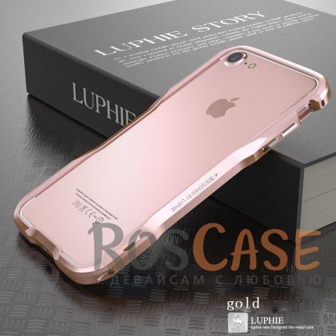 Металлический бампер Luphie Razon для Apple iPhone 7 / 8 (4.7) (Rose Gold)Описание:бренд -&amp;nbsp;Luphie;материал - алюминий;совместим с Apple iPhone 7 / 8 (4.7);тип - бампер.Особенности:прочный алюминий;в наличии все вырезы;ультратонкий дизайн;защита граней от ударов и царапин;в комплекте отвертка для установки бампера.<br><br>Тип: Чехол<br>Бренд: Luphie<br>Материал: Металл