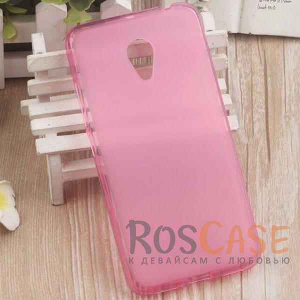 Фото Розовый TPU чехол с прозрачными бортами для Meizu Pro 6