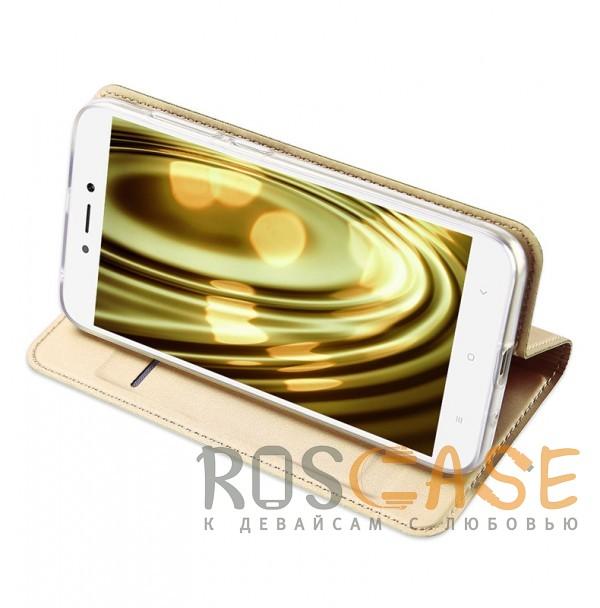 Фото Золотой Dux Ducis | Чехол-книжка для Xiaomi Redmi 5A с подставкой и карманом для визиток