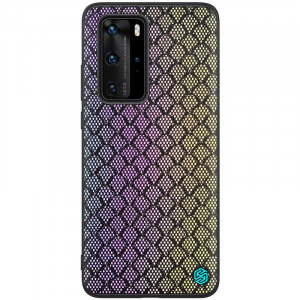 Nillkin Twinkle Rainbow | Чехол с текстурной тканевой вставкой  для Huawei P40 Pro