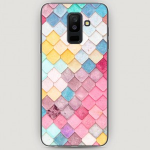RosCase | Силиконовый чехол Нежные ромбики на Samsung Galaxy A6 Plus (2018)