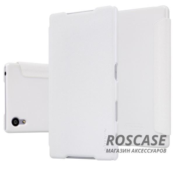 Кожаный чехол (книжка) Nillkin Sparkle Series для Sony Xperia Z5 (Белый)Описание:производитель: Nillkin;предназначение: Sony Xperia Z5;материал: полиуретан и искусственная кожа;тип: чехол-книжка.Особенности:особая фактурная поверхность;качественная магнитная застежка;насыщенная палитра цветов;исключена быстрая деформация.<br><br>Тип: Чехол<br>Бренд: Nillkin<br>Материал: Искусственная кожа