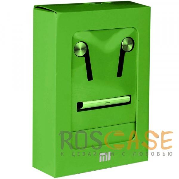 Фото Зеленый Xiaomi PISTON 5 (реплика) | Вакуумные наушники с пультом управления и микрофоном