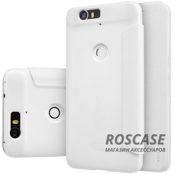 Кожаный чехол (книжка) Nillkin Sparkle Series для Huawei Nexus 6P (Белый)Описание:бренд&amp;nbsp;Nillkin;изготовлен специально для Huawei Nexus 6P;материал: искусственная кожа, поликарбонат;тип: чехол-книжка.Особенности:не скользит в руках;защита от механических повреждений;не выгорает;блестящая поверхность;надежная фиксация.<br><br>Тип: Чехол<br>Бренд: Nillkin<br>Материал: Искусственная кожа
