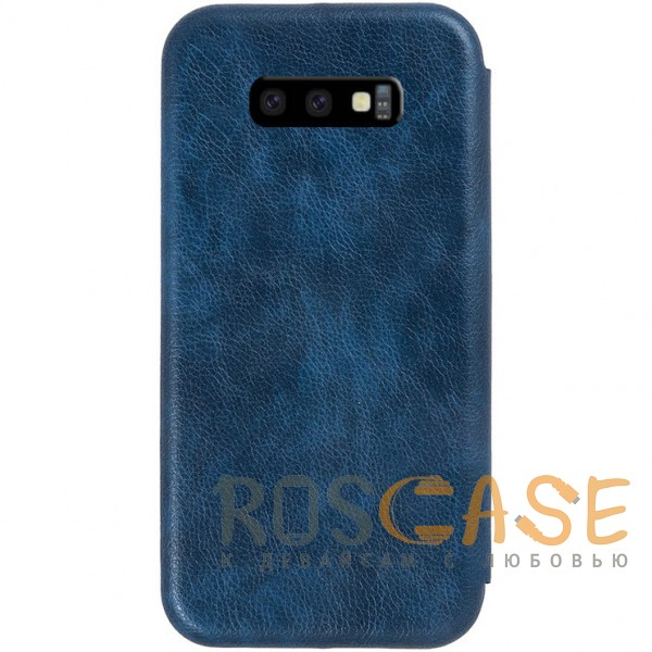 Изображение Темно-синий Open Color 2   Чехол-книжка на магните для Samsung Galaxy S10e с подставкой и внутренним карманом