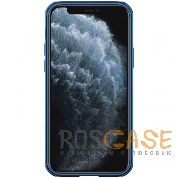 Изображение Синий Nillkin CamShield Pro   Чехол из пластика и TPU с защитой камеры для магнитной зарядки для iPhone 12 Pro Max