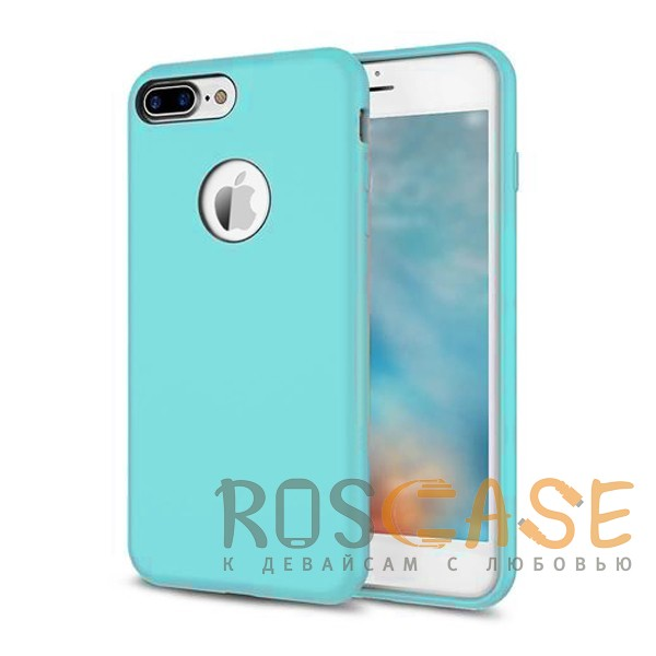 """Фотография Голубой / Light Blue Rock Silicon   Ультратонкий чехол для Apple iPhone 7 plus / 8 plus (5.5"""") из силикона"""
