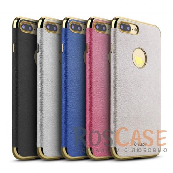 Кожаная накладка iPaky Chrome Series для Apple iPhone 7 plus (5.5)Описание:производитель: iPaky;создана для&amp;nbsp;Apple iPhone 7 plus (5.5);материал изделия: искусственная кожа, хромированный пластик;конфигурация: накладка.Особенности:двухцветный дизайн;рельефная фактура;встроенная металлическая пластина;наличие всех функциональных вырезов;защита от царапин и ударов.<br><br>Тип: Чехол<br>Бренд: Epik<br>Материал: Искусственная кожа