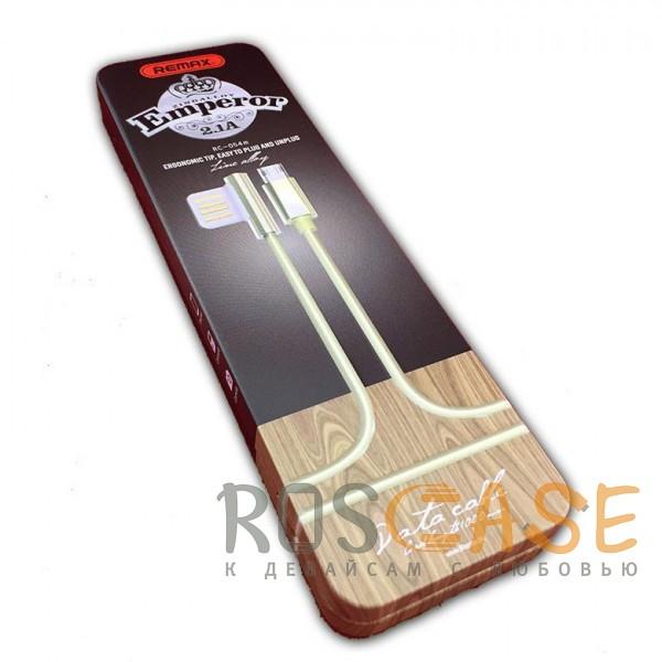 Фотография Золотой Remax Emperor | Дата кабель USB to MicroUSB с угловым штекером USB (100 см)