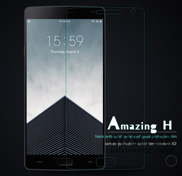Защитное стекло Nillkin Anti-Explosion Glass Screen (H) для OnePlus 2Описание:компания&amp;nbsp;Nillkin;создано для OnePlus 2;материал: закаленное стекло;тип: защитное стекло.&amp;nbsp;Особенности:повторяет форму экрана;тонкое и прозрачное;покрытие анти-блик;твердость - 9H;толщина - &amp;nbsp;0,3 мм;защита от ударов и царапин;олеофобное покрытие;в комплекте пленка на камеру.<br><br>Тип: Защитное стекло<br>Бренд: Nillkin