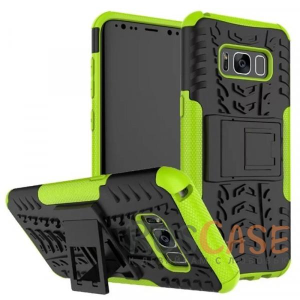 Противоударный двухслойный чехол Shield для Samsung G955 Galaxy S8 Plus с подставкой (Зеленый)Описание:совместим с Samsung G955 Galaxy S8 Plus;удобная функция подставки;материал - поликарбонат, термополиуретан;тип - накладка;ударопрочная конструкция;предусмотрены все необходимые вырезы;рельефная фактура.<br><br>Тип: Чехол<br>Бренд: Epik<br>Материал: TPU