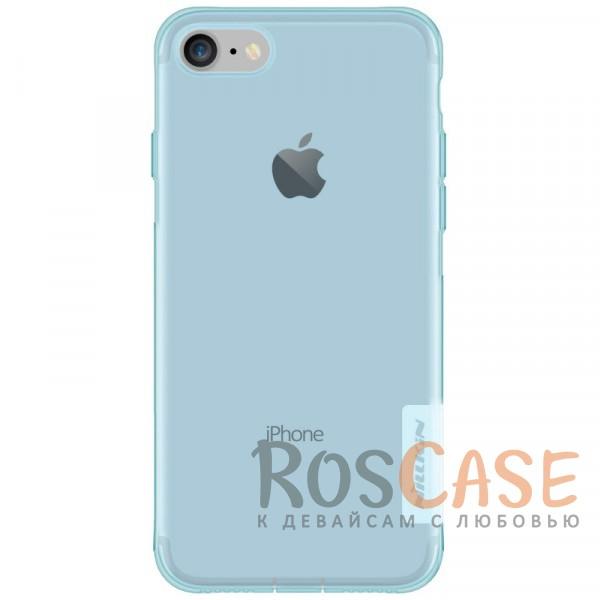 Мягкий прозрачный силиконовый чехол для Apple iPhone 7 / 8 (4.7) (Голубой (прозрачный))Описание:производитель  -  бренд&amp;nbsp;Nillkin;совместим с Apple iPhone 7 / 8 (4.7);материал  -  термополиуретан;тип  -  накладка.&amp;nbsp;Особенности:в наличии все вырезы;не скользит в руках;тонкий дизайн;заглушка на отверстие для зарядки.защита от ударов и царапин;прозрачный.<br><br>Тип: Чехол<br>Бренд: Nillkin<br>Материал: TPU