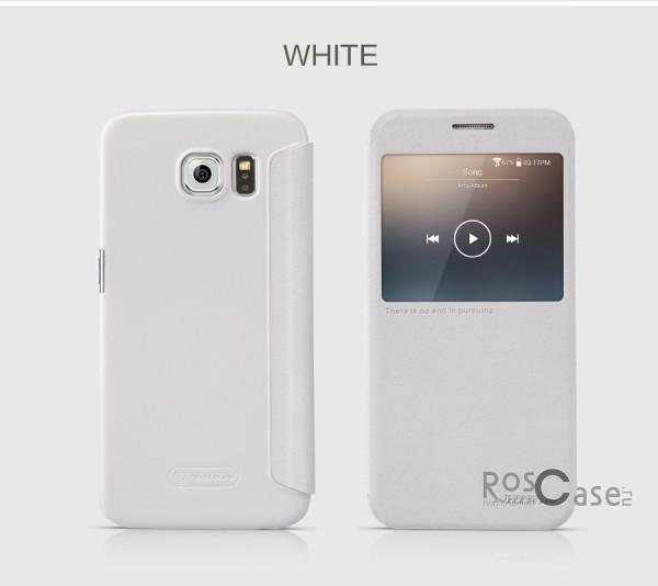 Nillkin Sparkle | Чехол-книжка с функцией Sleep Mode для Samsung Galaxy S6 G920F/G920D Duos (Белый)Описание:бренд -&amp;nbsp;Nillkin;совместим с Samsung Galaxy S6 G920F/G920D Duos;материал: кожзам;тип: чехол-книжка.Особенности:защита от механических повреждений;не скользит в руках;интерактивное окошко;функция Sleep mode;не выгорает;тонкий дизайн.<br><br>Тип: Чехол<br>Бренд: Nillkin<br>Материал: Натуральная кожа