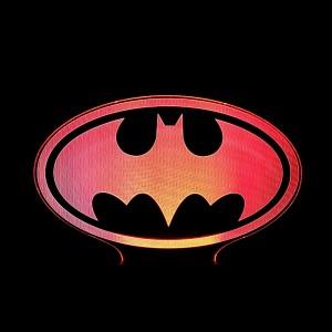 """Светодиодный 3D светильник-ночник с проекцией объемного изображения """"Logo Batman"""""""