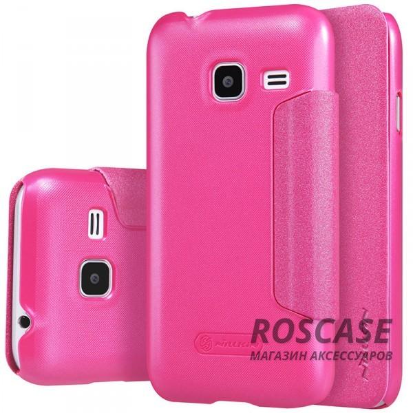 Кожаный чехол (книжка) Nillkin Sparkle Series для Samsung J105H Galaxy J1 Mini / Galaxy J1 Nxt (Розовый)Описание:бренд&amp;nbsp;Nillkin;изготовлен специально для Samsung J105H Galaxy J1 Mini / Galaxy J1 Nxt;материал: искусственная кожа, поликарбонат;тип: чехол-книжка.Особенности:не скользит в руках;защита от механических повреждений;не выгорает;блестящая поверхность;надежная фиксация.<br><br>Тип: Чехол<br>Бренд: Nillkin<br>Материал: Искусственная кожа