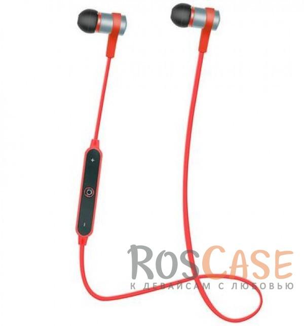 Спортивные беспроводные наушники bluetooth с пультом управления и микрофоном (s6-1) (Красный)Описание:универсальная совместимость;подключения - bluetooth;тип  -  вакуумные наушники.&amp;nbsp;Особенности:микрофон, пульт управления;полное сопротивление: 16 Ом;чувствительность  -  96 Дб;частотный отклик  -  20-20000 Гц;дальность действия - до 10 метров;время работы в режиме воспроизведения музыки  -  4-5 часов;время зарядки  -  2 часа;съемное крепление на уши;в комплекте футляр для наушников, запасные амбушюры.<br><br>Тип: Наушники/Гарнитуры<br>Бренд: Epik