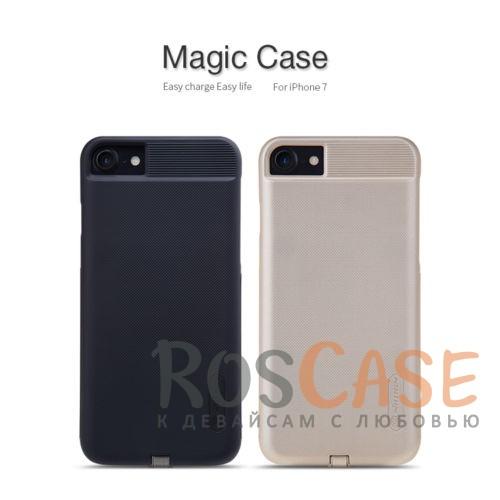 Пластиковая накладка Nillkin Magic с модулем приема от беспроводного ЗУ для Apple iPhone 7 (4.7)Описание:компания&amp;nbsp;Nillkin;разработана для Apple iPhone 7 (4.7);материал: поликарбонат;тип: накладка.&amp;nbsp;Особенности:модуль приема заряда от беспроводного ЗУ;выходное напряжение - 5V-1A (max);на накладке не заметны отпечатки пальцев;ультратонкая;защита от царапин и потертостей.<br><br>Тип: Чехол<br>Бренд: Nillkin<br>Материал: Поликарбонат