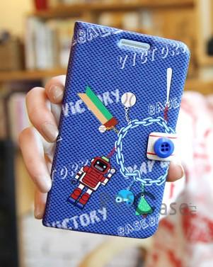 фото кожаный чехол (книжка) Happymori Play by Play Series для Apple iPhone 5/5S/5SE