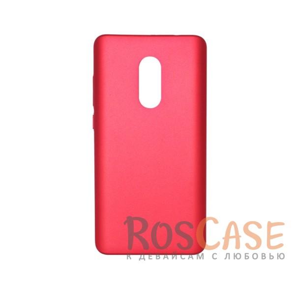 Матовая soft-touch накладка Joyroom из ударостойкого пластика с дополнительной защитой углов для Xiaomi Redmi Note 4 (MTK) (Красный)Описание:бренд - Joyroom;совместимость - Xiaomi Redmi Note 4 (MTK);материал - пластик;тип - накладка.<br><br>Тип: Чехол<br>Бренд: Epik<br>Материал: Пластик