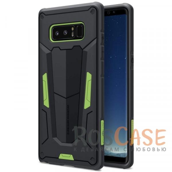 Ударопрочный двухслойный пластиковый чехол Nillkin Defender 2 для Samsung Galaxy Note 8 (Зеленый)Описание:производитель  - &amp;nbsp;Nillkin;чехол разработан для использования с Samsung Galaxy Note 8;материал  -  термополиуретан, поликарбонат;тип  -  накладка;ударопрочная конструкция;цветные вставки;защита боковых кнопок;предусмотрены все функциональные вырезы.<br><br>Тип: Чехол<br>Бренд: Nillkin<br>Материал: Поликарбонат