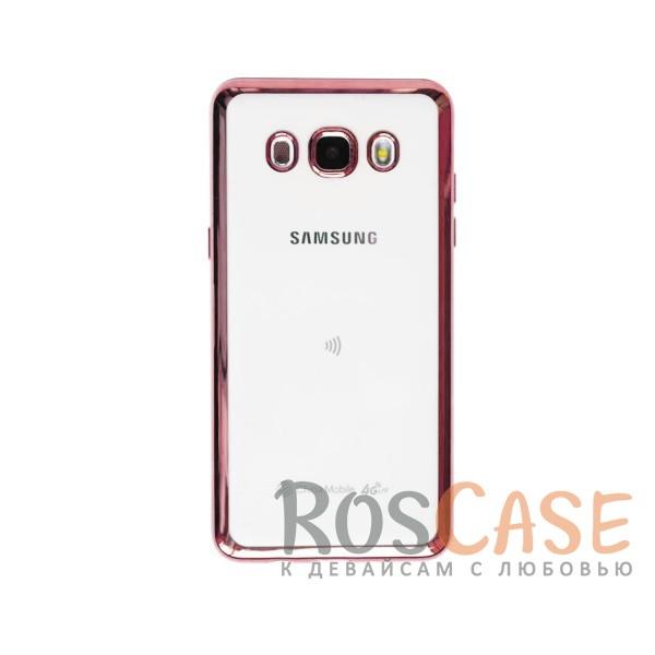 Прозрачный силиконовый чехол для Samsung J510F Galaxy J5 (2016) с глянцевой окантовкой (Розовый)Описание:материал - силикон;совместим с Samsung J510F Galaxy J5 (2016);тип - накладка.Особенности:прозрачный;глянцевая окантовка;все вырезы предусмотрены;защищает от царапин и потертостей;тонкий дизайн;плотно облегает корпус.<br><br>Тип: Чехол<br>Бренд: Epik<br>Материал: TPU