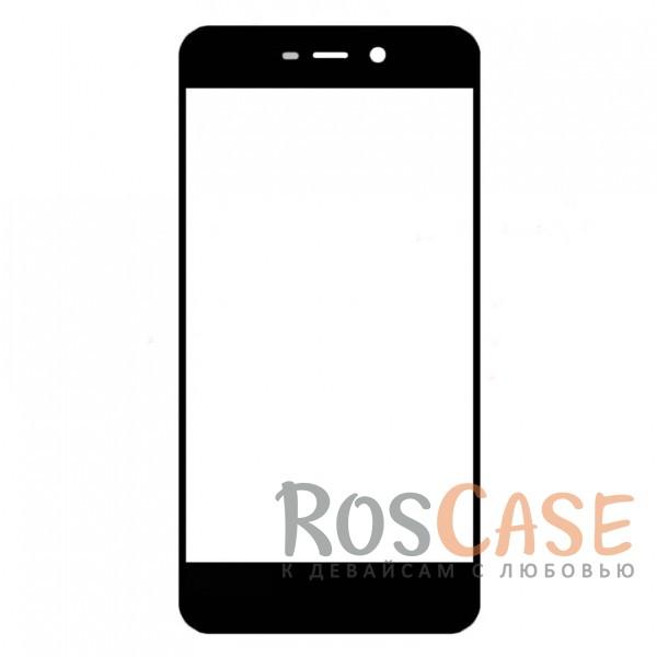 Фото Черный Защитное стекло с цветной рамкой на весь экран для Xiaomi Redmi 4a