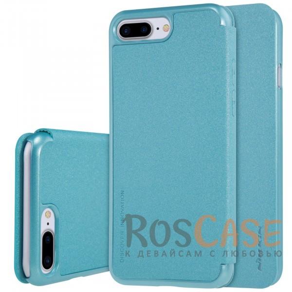 Nillkin Sparkle | Чехол-книжка для Apple iPhone 7 plus / 8 plus (5.5) (Бирюзовый)Описание:производитель -&amp;nbsp;Nillkin;разработан для Apple iPhone 7 plus / 8 plus (5.5);материал - искусственная кожа, поликарбонат;тип - чехол-книжка.Особенности:блестящая поверхность;защита от царапин и ударов;тонкий дизайн;защита со всех сторон;не скользит в руках.<br><br>Тип: Чехол<br>Бренд: Nillkin<br>Материал: Искусственная кожа
