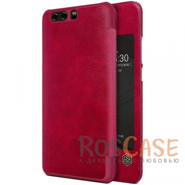 Чехол-книжка из натуральной кожи для Huawei P10 Plus (Красный)Описание:бренд&amp;nbsp;Nillkin;разработан для Huawei P10 Plus;материалы: натуральная кожа, поликарбонат;защищает гаджет со всех сторон;на аксессуаре не заметны отпечатки пальцев;окошко в обложке;функция Sleep mode;предусмотрены все необходимые вырезы;тонкий дизайн не увеличивает габариты девайса;тип: чехол-книжка.<br><br>Тип: Чехол<br>Бренд: Nillkin<br>Материал: Натуральная кожа