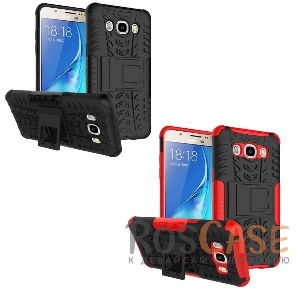 Противоударный двухслойный чехол Shield для Samsung J510F Galaxy J5 (2016) с подставкойОписание:разработан специально для Samsung J510F Galaxy J5 (2016);материалы: поликарбонат, термополиуретан;тип: накладка.&amp;nbsp;Особенности:двухслойный;ударопрочный;оригинальный дизайн;стильный дизайн;в наличии все функциональные вырезы;функция подставки.<br><br>Тип: Чехол<br>Бренд: Epik<br>Материал: TPU
