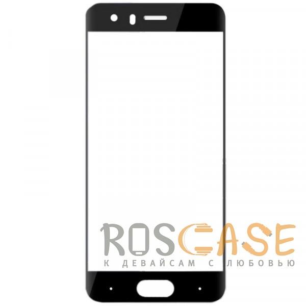 Фото Черный Защитное стекло с цветной рамкой на весь экран для Huawei Honor 9