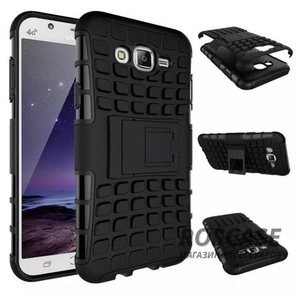 Противоударный двухслойный чехол Shield для Samsung J700H Galaxy J7 с подставкой (Черный)Описание:разработан специально для&amp;nbsp;Samsung J700H / J700F Galaxy J7;материалы: поликарбонат, термополиуретан;тип: накладка.&amp;nbsp;Особенности:двухслойный;ударопрочный;оригинальный дизайн;стильный дизайн;в наличии все функциональные вырезы;функция подставки.<br><br>Тип: Чехол<br>Бренд: Epik<br>Материал: TPU
