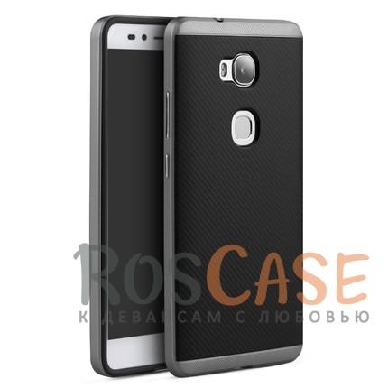 Чехол iPaky TPU+PC для Huawei Honor 5X / GR5 (Черный / Серый)Описание:производитель - iPaky;совместим с Huawei Honor 5X / GR5;материал: термополиуретан, поликарбонат;форма: накладка на заднюю панель.Особенности:эластичный;рельефная поверхность;прочная окантовка;ультратонкий;защита экрана и камеры благодаря выступающим краям;надежная фиксация.<br><br>Тип: Чехол<br>Бренд: Epik<br>Материал: TPU