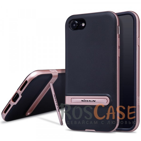 Стильно-модно-молодёжный чехол с подставкой для Apple iPhone 7 / 8 (4.7) (Rose Gold)Описание:бренд&amp;nbsp;Nillkin;совместим с Apple iPhone 7 / 8 (4.7);материалы - термополиуретан, поликарбонат;функция подставки;свойство анти-отпечатки;защита камеры от царапин;все вырезы предусмотрены;кнопки защищены.<br><br>Тип: Чехол<br>Бренд: Nillkin<br>Материал: Пластик