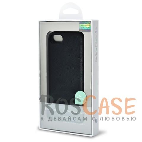 Кожаная накладка с металлической вставкой ROCK Elite Series для Apple iPhone 7 (4.7) (Черный / Black)Описание:производитель  - &amp;nbsp;Rock;разработан для Apple iPhone 7 (4.7);материал  -  искусственная кожа, металл, поликарбонат;тип  -  накладка.&amp;nbsp;Особенности:металлическая вставка;в наличии все функциональные вырезы;не скользит в руках;амортизирует удары;защищает от механических повреждений.<br><br>Тип: Чехол<br>Бренд: ROCK<br>Материал: Искусственная кожа