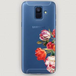RosCase | Силиконовый чехол Весенний букет на Samsung Galaxy A6 (2018)