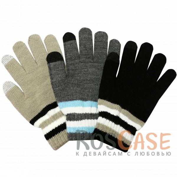 фото емкостные перчатки утепленные под кашемир