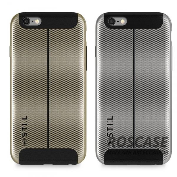 Накладка STIL Chivarly Series с алюминиевой вставкой для Apple iPhone 6/6s (4.7)Описание:создан компанией&amp;nbsp;STIL;разработан с учетом особенностей&amp;nbsp;Apple iPhone 6/6s (4.7);материалы - алюминий, термополиуретан;тип - накладка.Особенности:перфорированная поверхность;доступ ко всем функциям гаджета благодаря точным вырезам;защита от царапин и ударов;защита экрана благодаря выступающим бортикам;размеры - 143*72*10 мм, 42&amp;nbsp;гр.<br><br>Тип: Чехол<br>Бренд: Stil<br>Материал: Металл