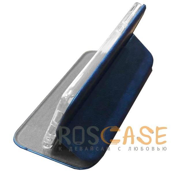 Фото Темно-синий  Open Color 2 | Чехол-книжка на магните для Huawei Y5 (2018) / Y5 Prime (2018) с подставкой и внутренним карманом