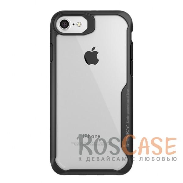 Прозрачный глянцевый чехол iPaky Luckcool с цветными силиконовыми вставками для защиты краев и камеры для Apple iPhone 8 (4.7) (Черный)Описание:бренд - iPaky;разработан для &amp;nbsp;Apple iPhone 8 (4.7);материалы - термополиуретан, акрил;прозрачная задняя панель;цветная окантовка;дополнительная защита боковых кнопок;выступающие бортики вокруг камеры защищают ее от царапин;предусмотрены все вырезы.<br><br>Тип: Чехол<br>Бренд: iPaky<br>Материал: Пластик