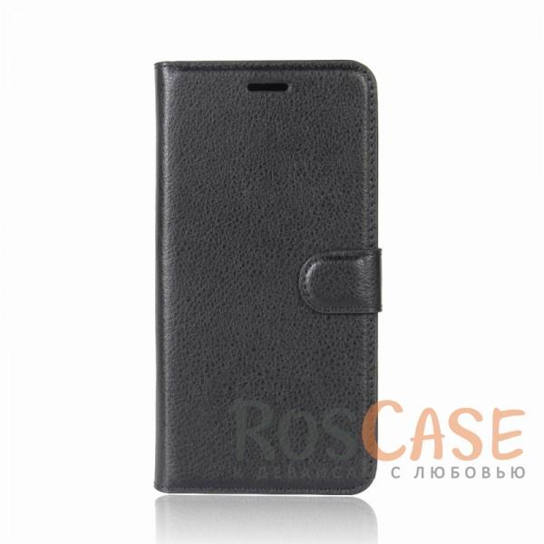 Гладкий кожаный чехол-бумажник на магнитной застежке Wallet с функцией подставки и внутренними карманами для LG Q6 / Q6a / Q6 Prime M700 (Черный)Описание:совместим с LG Q6 / Q6a / Q6 Prime M700;материалы  -  искусственная кожа, TPU;форма  -  чехол-книжка;фактурная поверхность;предусмотрены все функциональные вырезы;кармашки для визиток/кредитных карт/купюр;магнитная застежка;защита от механических повреждений.<br><br>Тип: Чехол<br>Бренд: Epik<br>Материал: Искусственная кожа
