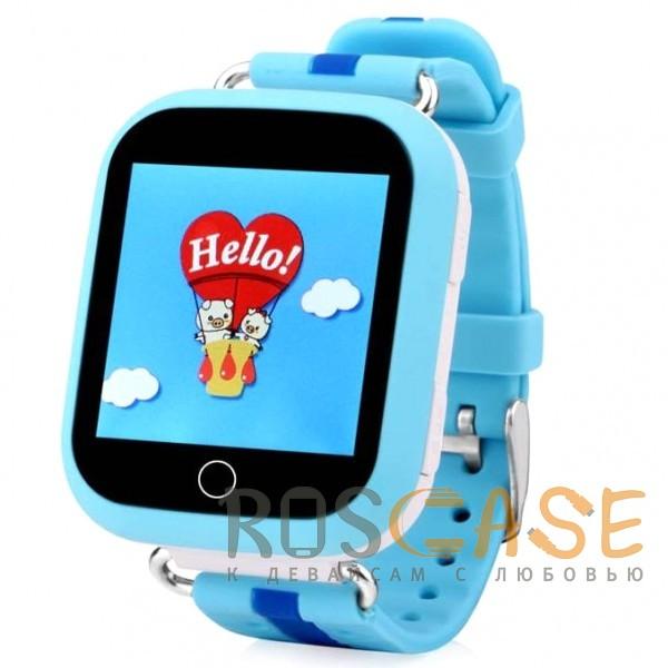 Фото Голубой Умные детские часы Smart Baby Watch GW200S