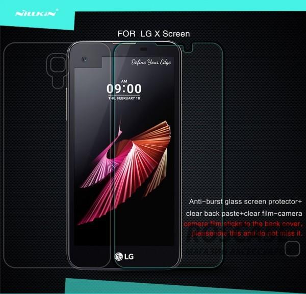 Защитное стекло Nillkin Anti-Explosion Glass Screen (H) для LG K500 X Screen / X ViewОписание:компания-производитель:&amp;nbsp;Nillkin;разработано специально для LG K500 X Screen / X View;материал: закаленное стекло;тип: стекло.&amp;nbsp;Особенности:имеются все функциональные вырезы;антибликовое покрытие;твердость 9H;не влияет на чувствительность сенсора;легко очищается;толщина - &amp;nbsp;0,3 мм;анти-отпечатки.<br><br>Тип: Защитное стекло<br>Бренд: Nillkin