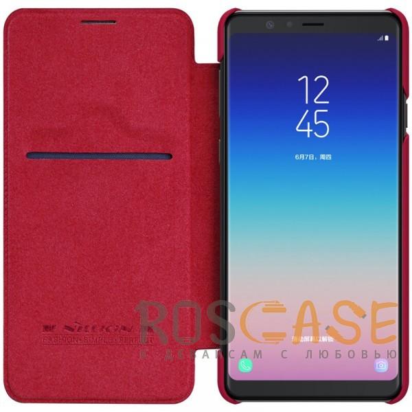 Изображение Красный Nillkin Qin натур. кожа | Чехол-книжка для Samsung Galaxy A8 Star (A9 Star)