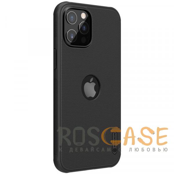 Изображение Черный Nillkin Super Frosted Shield Pro   Матовый пластиковый чехол для iPhone 12 / 12 Pro с отверстием под лого