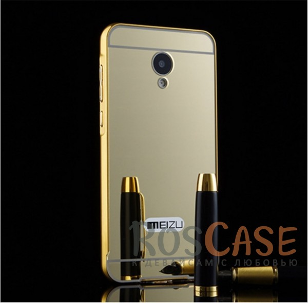 Защитный металлический бампер с зеркальной вставкой для Meizu M2 / M2 mini (Золотой)Описание:разработан для Meizu M2 / M2 mini;материалы - металл, акрил;тип - бампер с задней панелью.<br><br>Тип: Чехол<br>Бренд: Epik<br>Материал: Металл