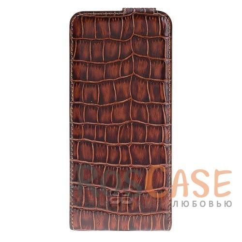 Фото Вертикальный чехол-флип из натуральной кожи с фактурой крокодиловой кожи с магнитной застежкой для Samsung Galaxy S8 (G950)
