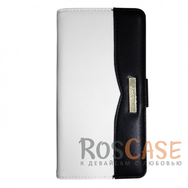 Универсальный чехол-книжка с механизмом Slide up Gresso для смартфона 4.5-5.0 дюйма (Черный / Белый)Описание:бренд -&amp;nbsp;Gresso;совместимость -&amp;nbsp;смартфоны с диагональю 4,5-5 дюймов;материал - искусственная кожа;тип - чехол-книжка;ВНИМАНИЕ: убедитесь, что ваша модель устройства находится в пределах максимального размера чехла. Размеры чехла: 15*8 см.<br><br>Тип: Чехол<br>Бренд: Gresso<br>Материал: Искусственная кожа