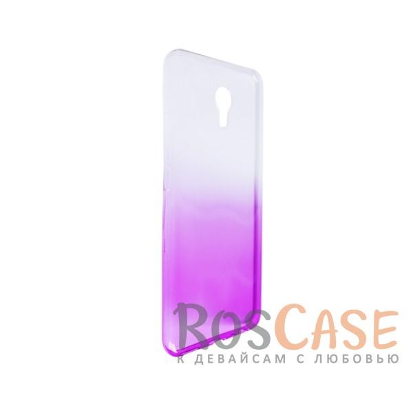 Изображение Фиолетовый Прозрачный TPU чехол с цветным градиентом для Meizu MX6
